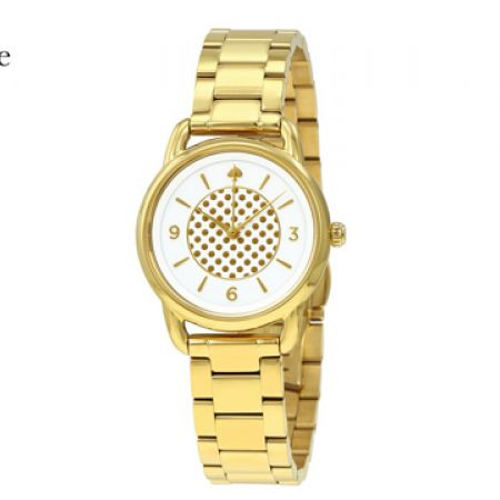 Kate Spade Boathouse Gold-Tone Stainless Steel Round Watch For Women