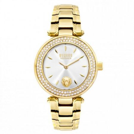 fdcbc5f04d2d Versus Versace Brick Lane Gold Plated Round Watch For Women - Makhsoom