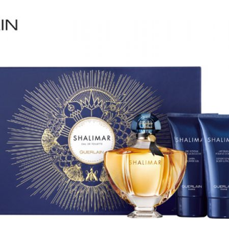 Guerlain Shalimar Gift Set EDT 90 ml, Shower Gel 75 ml & Body Lotion 75 ml 3 Pcs For Women