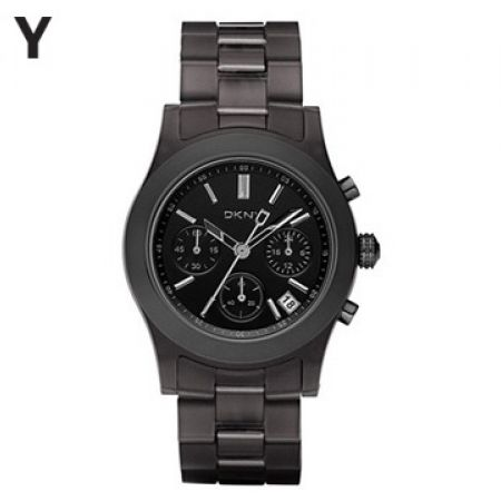 DKNY Chronograph Resin Brown Round Watch For Women