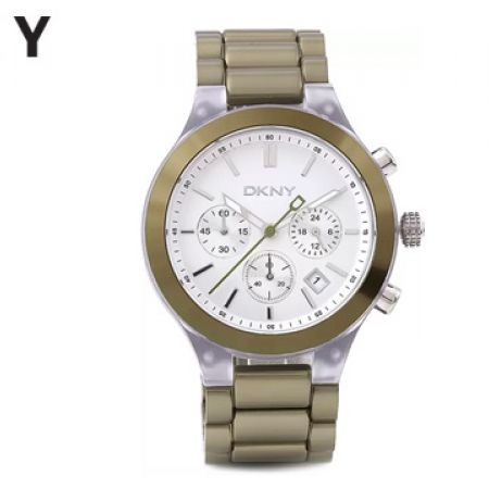 DKNY Sport Casual Green Stainless Steel Round Watch For Women