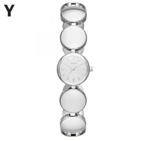 DKNY Gansevoort Silver Dial Stainless Steel Round Watch For Women