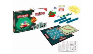 2 In 1 English Version Scrabble & Monopoli Games