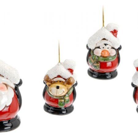 Itemz Set Of Hanging Christmas Tree Decoration Figures 4 Pcs