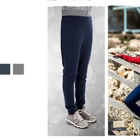 Comodo Ladies Jogging Fleece Valueweight Pants For Women - Medium - Black
