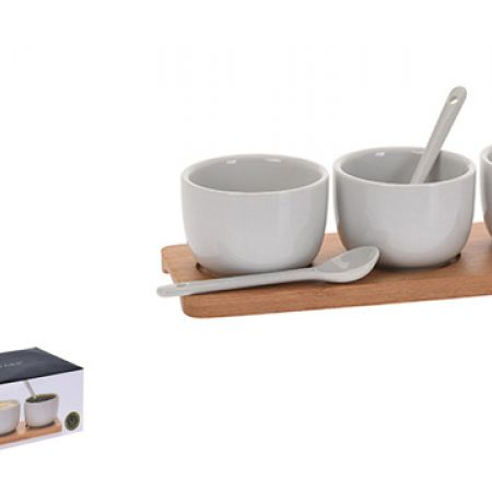 Set Of Sauce Bowls With Spoon 7 Pcs