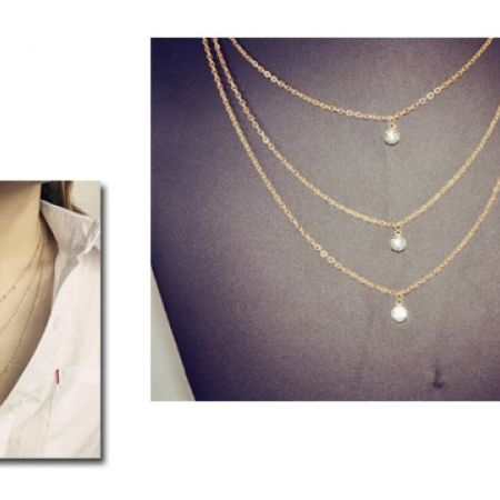 Bohemian Multilayer Crystal Necklace For Women