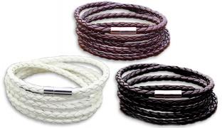 Retro 5-Layer Leather Bracelet Unisex - Black