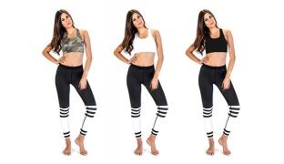 Lisyana Mid Cross Back Sport Bra For Women - Black - Size: Small