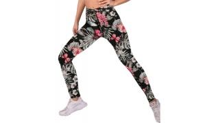 Lisyana Sport Fit Tight Legging For Women - Floral - Size: Medium