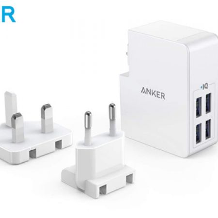 Anker PowerPort 4 Lite Travel Charger