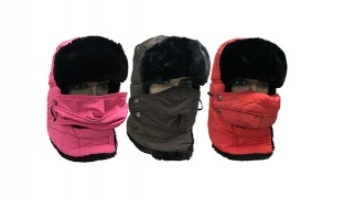 Unisex Faux Fur Windproof Ski Trapper Cap - Brown