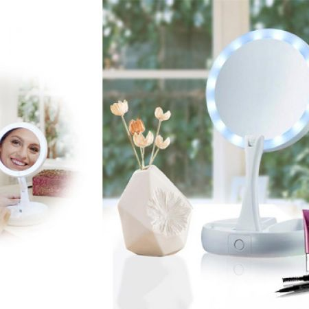 My Foldaway Mirror The Lighted Double Sided Vanity Mirror 10x Magnification