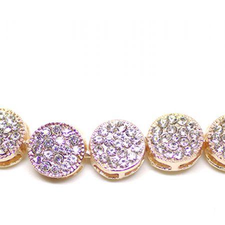 Zinc Alloy Adjustable Rose Gold Crystal Diana Bracelet For Women