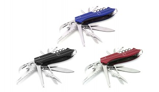 15 In 1 Stainless Steel Survival Portable Folding Pocket Knife - Red