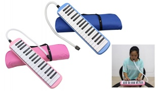 Melodica Musical Instrument 32 Piano Keys With Carrying Bag - Blue