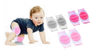 Pair Of Breathable Crawling Knee Pads Cushion For Kids - Pink