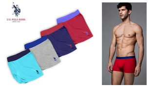 U.S. Polo Assn Brief Stretch Boxer For Men - Mint - Size: Large