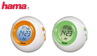 Hama TC-300 LCD Thermometer With Night Light - Green