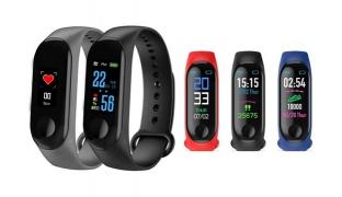 X3 Heart Rate Blood Pressure Sleep Monitor Sport Mode Social Media Smart Watch Bracelet - Black