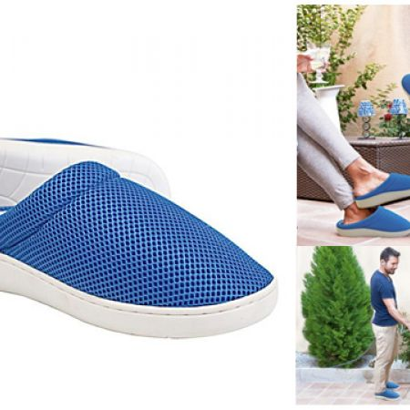 Stepluxe Blue Summer Edition Wellness Slippers With Gel Sole Unisex