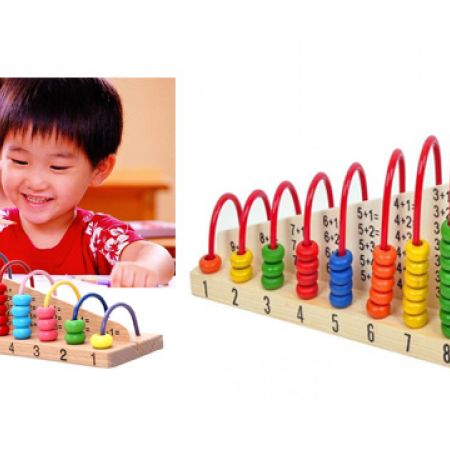 Wooden Toy Child Abacus Counting Beads Maths Learning