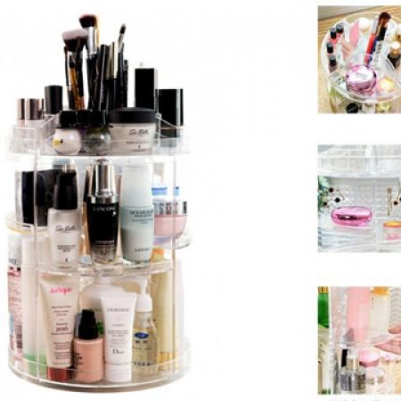 Design Acrylic Rotating Round Cosmetic Holder