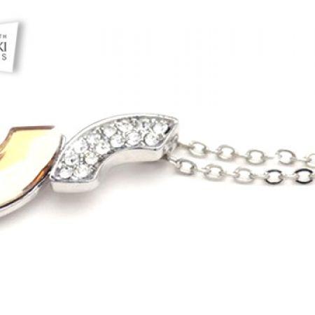 f9027760e Swarovski Elements Half Circle Necklace For Women