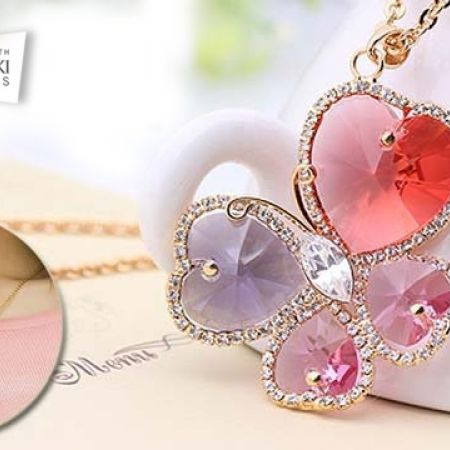 0996cfccc Austrian Crystal Gold Plated Butterfly Necklace For Women