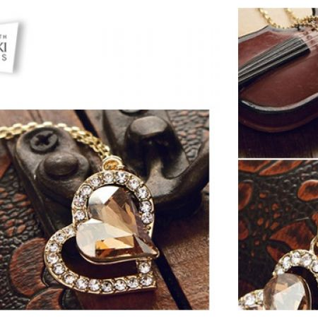Swarovski Elements Gold Plated Heart Necklace For Women