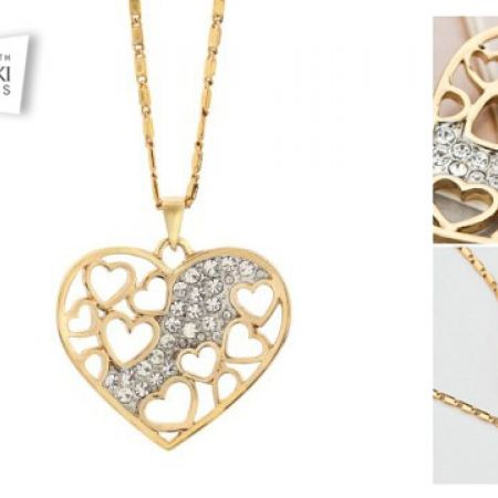 4bc66a153 Swarovski Elements Classy Heart Necklace For Women