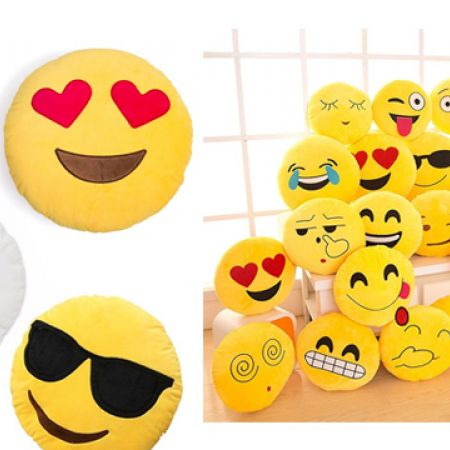 Emoji Super Soft Pillow 30 cm - Hearts