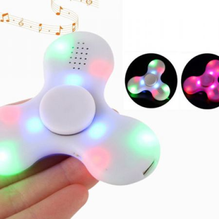 Hand Bluetooth Speaker Spinner With Led - Blue