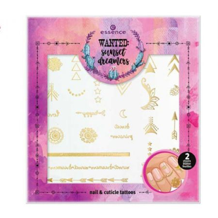 Essence Wanted Sunset Dreamers Stickers For Nails 01 Release Your Inner Hippie