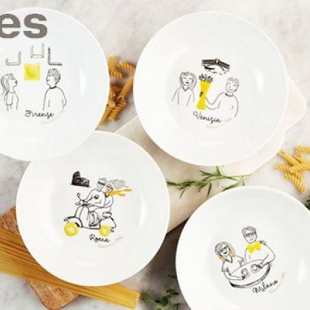 Stokes Set Of Porcelain Romanza Pasta Bowls 20.5 cm 4 Pcs