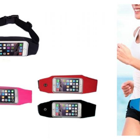 Waterproof Running Belt For iPhone & Android - Red