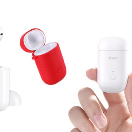 1a68821dcb4 Joyroom Single Bluetooth Earphone With Charging Case & Free Silicone Cover  - Makhsoom