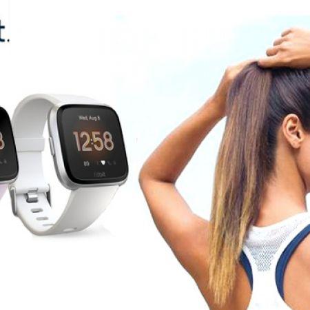 Fitbit Versa Lite Wireless Activity & Fitness Watch - Silver/White