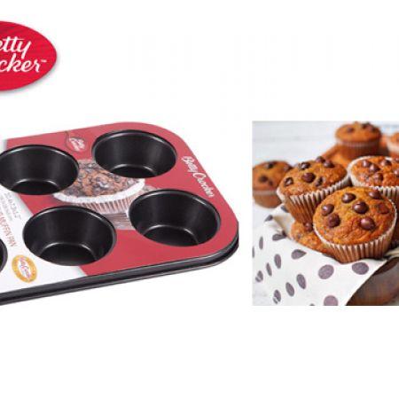Betty Crocker Carbon Steel Cup Muffin Pan 6 Pcs 26.5 x 18.5 x 3 cm