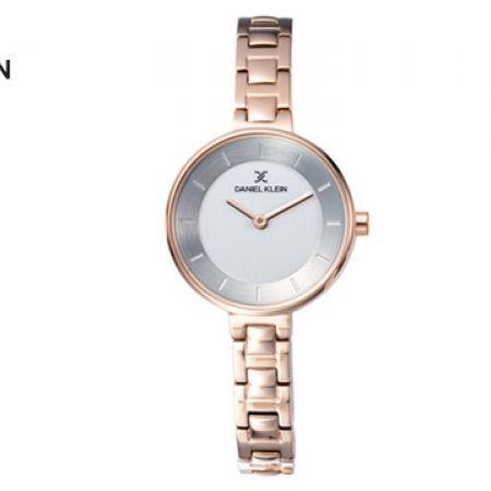 Daniel Klein DK11892-3 Stainless Steel Rose Gold Fiord Watch For Women
