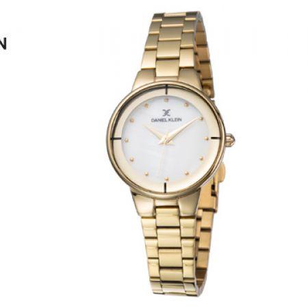 Daniel Klein DK11889-3 Stainless Steel Gold Premium Watch For Women