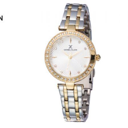 Daniel Klein DK11884-6 Stainless Steel Silver & Gold Premium Watch For Women