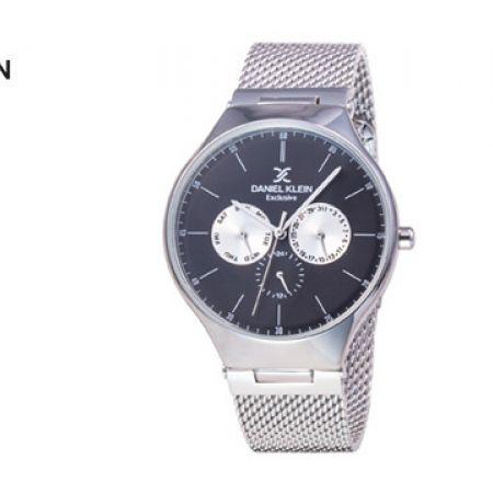 Daniel Klein DK11820-2 Mesh Silver Exclusive Watch For Men