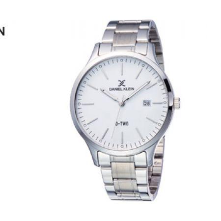 Daniel Klein DK11922-4 Folded Stainless Steel Silver D Watch Unisex