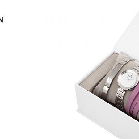 Daniel Klein Gift Set Watch With 2 Bracelets For Women