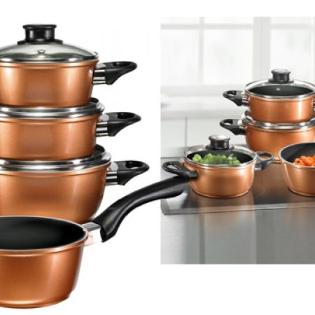Beem Supertherm Plus Cast Aluminium Cookware Set With Lids 4 Pcs