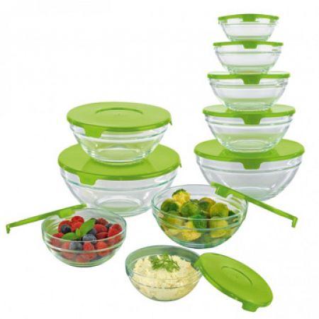 Maxxcuisine Set Of Food Storage Bowl With Lid 5 Pcs