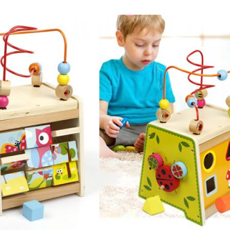 Kabi Wooden Spring Multi Functional Cube Box
