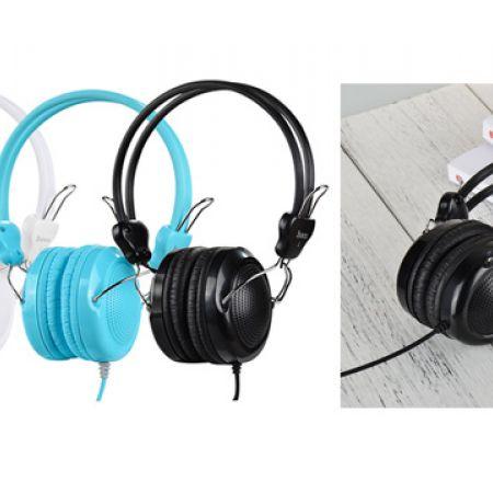 Hoco Wired headphones W5 With mic Adjustable Head Beam - Black