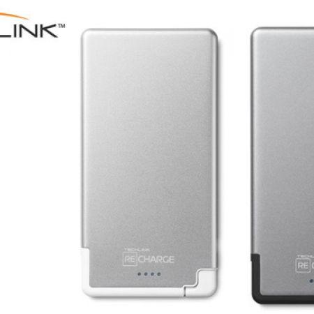 Techlink Recharge Ultra Thin Lightning Power Bank 3000 mAh - Space Grey/Black